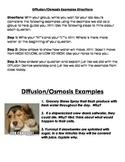 Diffusion and Osmosis Scenario Examples