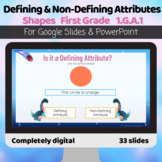 Defining and non-defining attributes shapes Google Slides PPT
