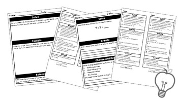 Dig Deeply Into Math Bundle for 2nd Grade Higher Order Thinking
