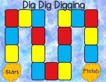 Dig Dig Digging Comprehension Game