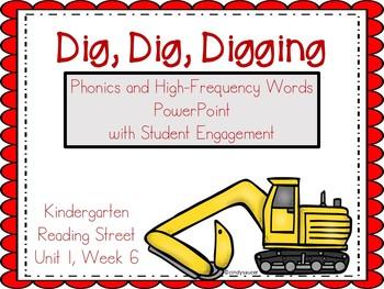 Dig Dig Digging, Kindergarten, Unit 1, Week 6, PowerPoint