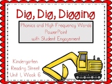Dig Dig Digging, PowerPoint with Student Engagement, Kindergarten