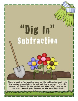 """""""Dig In"""" to Subtraction Math Center"""