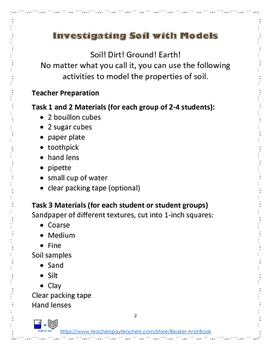 Dig Into Soil! Activity Pack