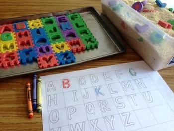 Dig for Letters and Color the Letters Kindergarten Literacy Center