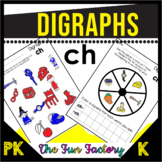 Digraph Ch Activities and Worksheets, First Grade -NO PREP