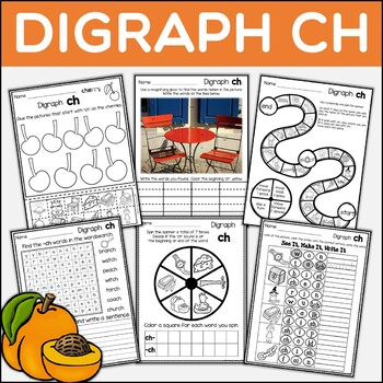 Digraph CH Dig Into Digraphs Print and Go Series