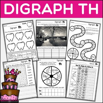 Digraph TH Dig Into Digraphs Print and Go Series
