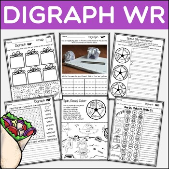 Digraph WR Dig Into Digraphs Print and Go Series