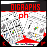 Digraph Ph Activities Consonant Digraph  Worksheets 1st Grade NO PREP