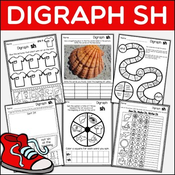 Digraph SH Dig Into Digraphs Print and Go Series