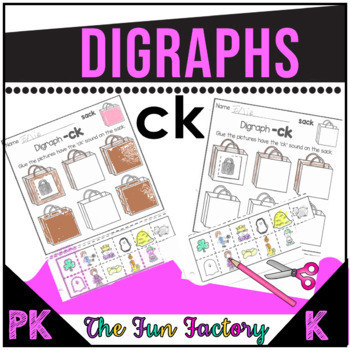 Digraphs Activities for Ck, Kn, Ph, Wr, Sh, Ch, Wh, Th - 1st Grade Bundle