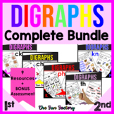 Digraph Worksheets and Activities   Consonate Blends and Digraphs BUNDLE