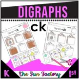 Digraph  CK  Activities and Worksheets, Kindergarten and 1st Grade- NO PREP