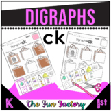 Digraph  CK  Activities and Worksheets, 1st Grade- NO PREP