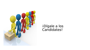 Digale a los Candidates Spanish commands activity power point