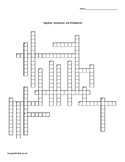 Digestion, Absorption, and Metabolism Crossword for Nutrition Students