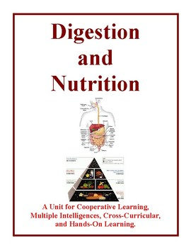 Digestion and Nutrition Unit, Activities and Worksheets