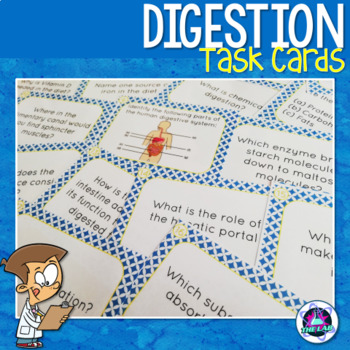 Digestion & Nutrition Task Cards