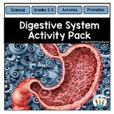 Human Body Activities: Digestive System Activities & Vocabulary Posters