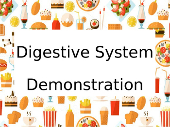 Digestive System Demonstration PowerPoint