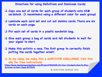 Digestive System Domino Cards Game: Anatomy/ Medical Terminology
