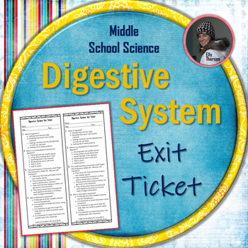 Digestive System Exit Ticket