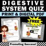 FREE Download Digestive System Video and Worksheet Science Human Body Biology