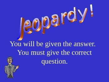 Digestive System Jeopardy
