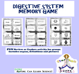 Digestive System MEMORY Game