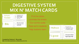 Digestive System - Mix N' Match Cards