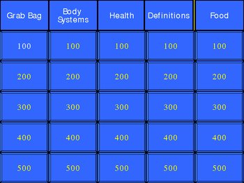 Digestive System Power Point Jeopardy Game