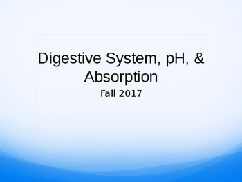 Digestive System Power Point Lecture