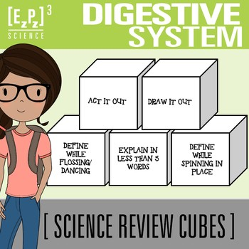 Digestive System Science Cubes