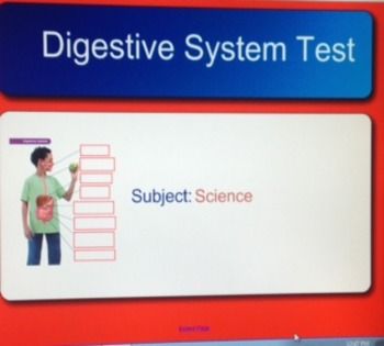 Digestive System Smart Board Lessson WITH Smart Response at the end