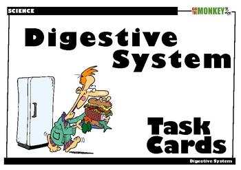 Digestive System Tasks Cards