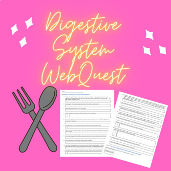 Digestive System WebQuest--NO KEY