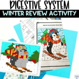 Digestive System Winter Editable Review Activity