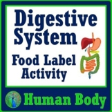 Human Body Systems Digestive System Food Label Activity - NGSS MS-LS1-3 MS-LS1-7