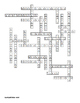 Digestive System and Food Vocabulary Crossword for Middle School Science