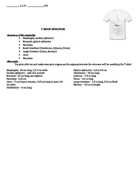Digestive System e-Book and Marketing T-shirt