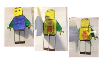 Digestive System foldable - lego brickman model