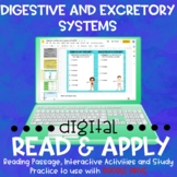 Digestive and Excretory Systems DIGITAL Read and Apply