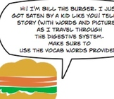 Digestive story - Check for Understanding worksheet