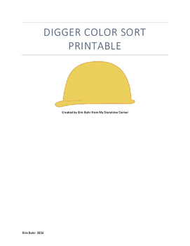 Digger Color Sort Printable