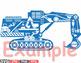 Digger Excavator stickers builders WORK school Construction Site Clipart -558S