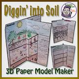 Soil Layers Model: Diggin' Deep in the Soil - 3D Paper Foldable