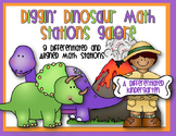 Diggin' Dinosaur Math Stations Galore-Differentiated and Aligned to Common Core