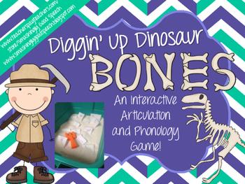 Diggin' Up Dinosaur Bones: Interactive Articulation Activity!