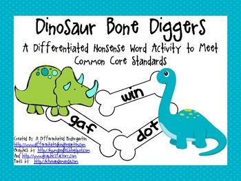 Diggin' Up Nonsense Bones-2 Differentiated Activities for Common Core